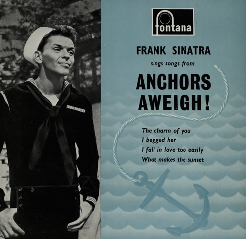 """Frank Sinatra Anchors Aweigh! EP 7"""" vinyl single (7 inch record) UK FRS07AN569338"""