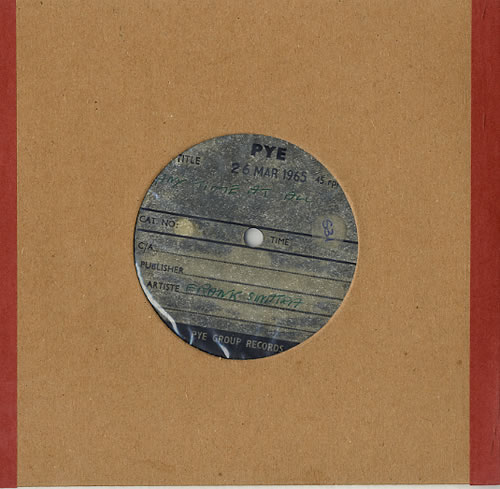 Frank Sinatra Any Time At All acetate UK FRSATAN628624