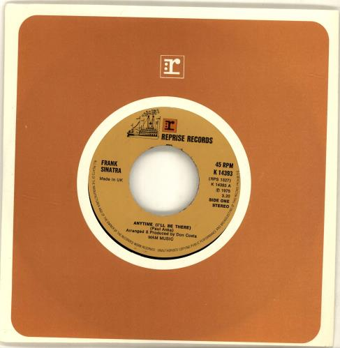 "Frank Sinatra Anytime (I'll Be There) - Wide 7"" vinyl single (7 inch record) UK FRS07AN688413"