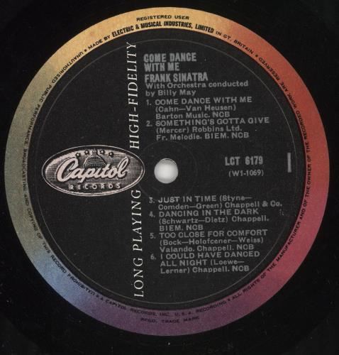 Frank Sinatra Come Dance With Me - 2nd vinyl LP album (LP record) UK FRSLPCO720745