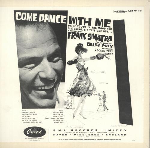 Frank Sinatra Come Dance With Me - front laminated p/s vinyl LP album (LP record) UK FRSLPCO720745