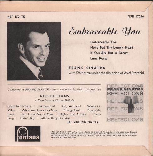"Frank Sinatra Embraceable You 7"" vinyl single (7 inch record) UK FRS07EM668780"
