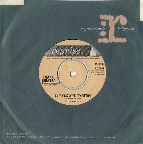 """Frank Sinatra Ev'rybody's Twistin' 7"""" vinyl single (7 inch record) UK FRS07EV479030"""