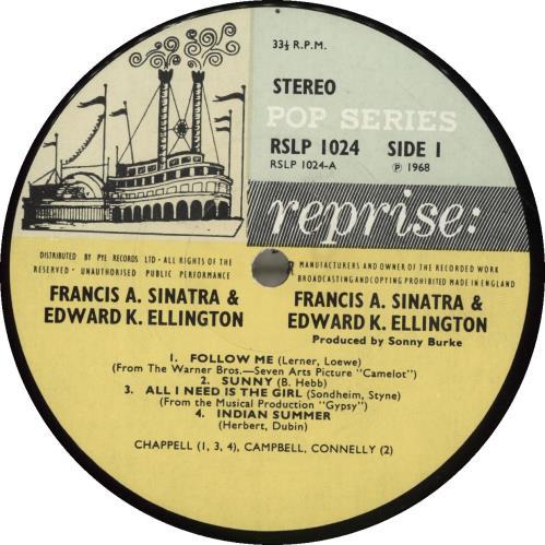 Frank Sinatra Francis A. & Edward K. - 1st vinyl LP album (LP record) UK FRSLPFR486788