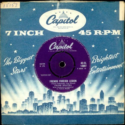 "Frank Sinatra French Foreign Legion 7"" vinyl single (7 inch record) UK FRS07FR504167"