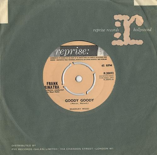 "Frank Sinatra Goody Goody 7"" vinyl single (7 inch record) UK FRS07GO479011"