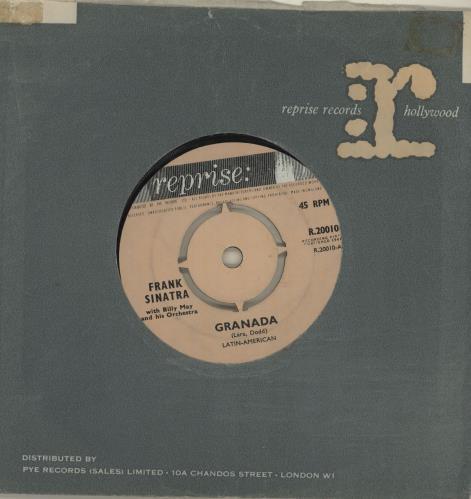 """Frank Sinatra Granada 7"""" vinyl single (7 inch record) UK FRS07GR504396"""