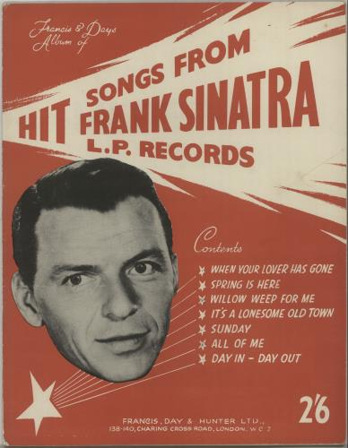 Frank Sinatra Hit Songs From Frank Sinatra L.P. Records sheet music UK FRSSMHI649717