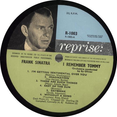 Frank Sinatra I Remember Tommy... vinyl LP album (LP record) UK FRSLPIR562292