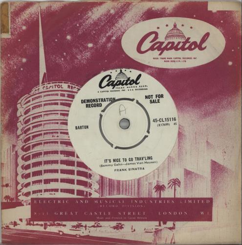 "Frank Sinatra It's Nice To Go Trav'ling 7"" vinyl single (7 inch record) UK FRS07IT659338"