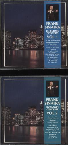 Frank Sinatra Legendary Concerts Volumes 1 & 2 2 CD album set (Double CD) Korean FRS2CLE730146