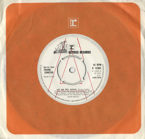 """Frank Sinatra Let Me Try Again - A Label 7"""" vinyl single (7 inch record) UK FRS07LE435504"""