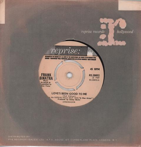 "Frank Sinatra Love's Been Good To Me - 4-Pr 7"" vinyl single (7 inch record) UK FRS07LO654341"