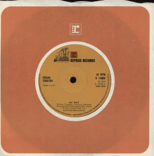 """Frank Sinatra My Way - 2nd - Solid 7"""" vinyl single (7 inch record) UK FRS07MY748799"""