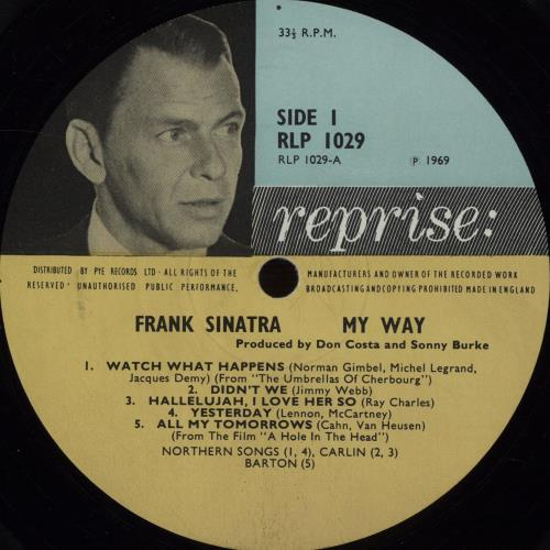 Frank Sinatra My Way - EX vinyl LP album (LP record) UK FRSLPMY578999