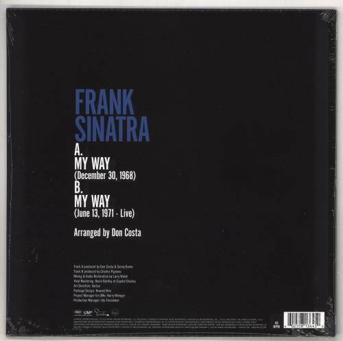 """Frank Sinatra My Way - RSD BF19 - Sealed 12"""" vinyl single (12 inch record / Maxi-single) UK FRS12MY734520"""