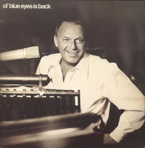 Frank Sinatra Ol' Blue Eyes Is Back + insert vinyl LP album (LP record) UK FRSLPOL747864