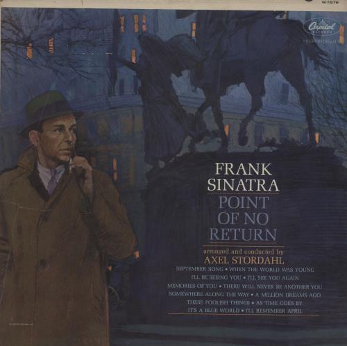 Frank Sinatra Point Of No Return vinyl LP album (LP record) US FRSLPPO761766