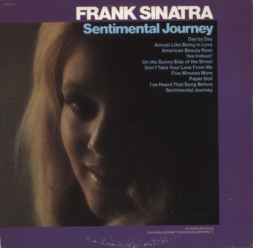 Frank Sinatra Sentimental Journey vinyl LP album (LP record) US FRSLPSE723665