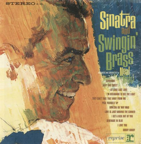 Frank Sinatra Sinatra And Swingin' Brass - shrink vinyl LP album (LP record) US FRSLPSI382422
