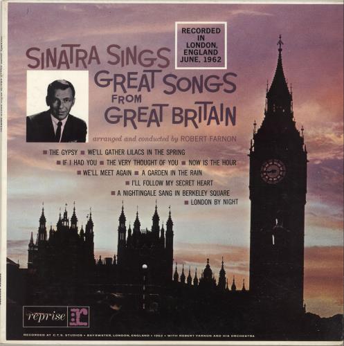 Frank Sinatra Sinatra Sings Great Songs From Great Britain vinyl LP album (LP record) UK FRSLPSI456396