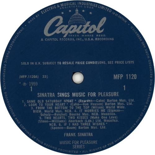 Frank Sinatra Sinatra Sings Music For Pleasure vinyl LP album (LP record) UK FRSLPSI393171