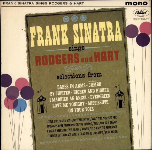 Frank Sinatra Sings Rodgers And Hart vinyl LP album (LP record) UK FRSLPSI510571