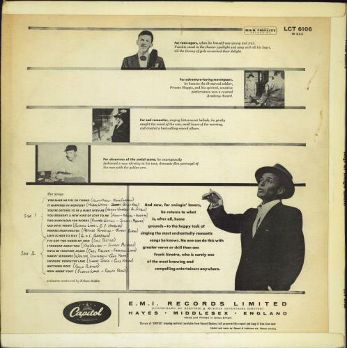 Frank Sinatra Songs For Swingin' Lovers - 2nd - VG/EX vinyl LP album (LP record) UK FRSLPSO708135