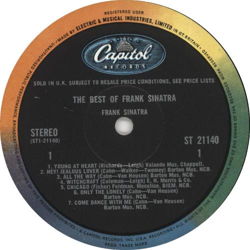 Frank Sinatra The Best Of - 1st vinyl LP album (LP record) UK FRSLPTH450771