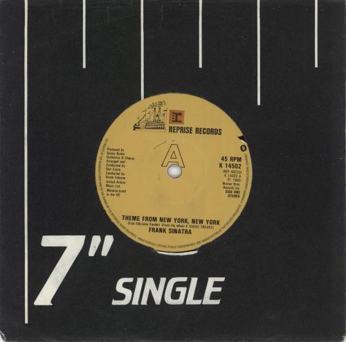 "Frank Sinatra Theme From New York, New York 7"" vinyl single (7 inch record) UK FRS07TH583985"