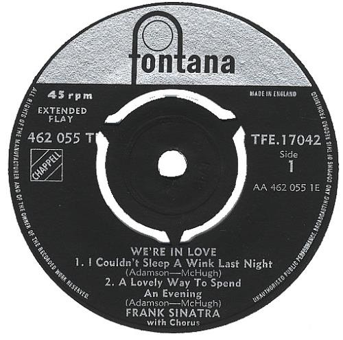 "Frank Sinatra We're In Love EP - 3pr 7"" vinyl single (7 inch record) UK FRS07WE387209"