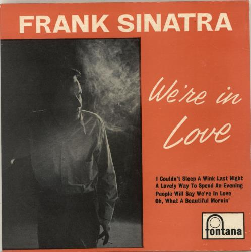 """Frank Sinatra We're In Love EP - solid 7"""" vinyl single (7 inch record) UK FRS07WE366757"""