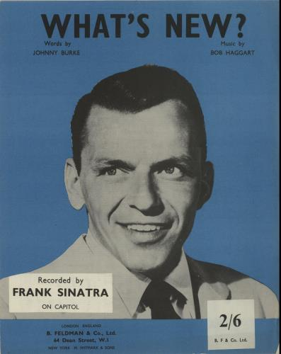 Frank Sinatra What's New? sheet music UK FRSSMWH649722