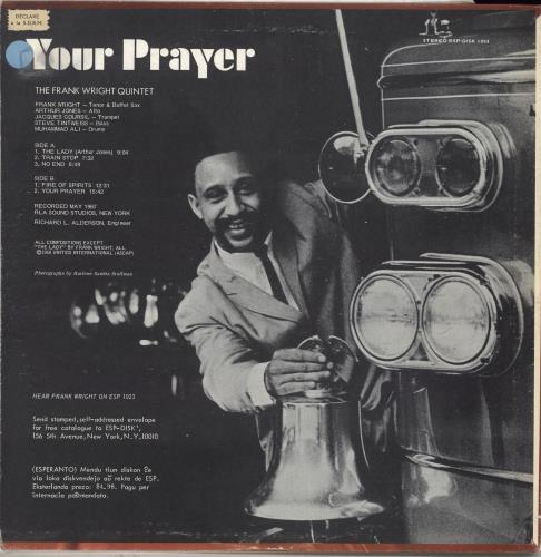 Frank Wright Your Prayer - 1st vinyl LP album (LP record) US QWDLPYO707210