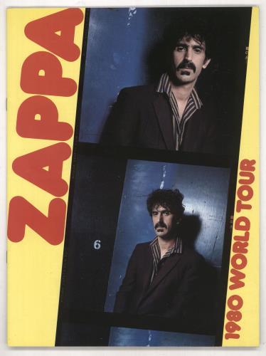Frank Zappa 1980 World Tour tour programme UK ZAPTRWO738691