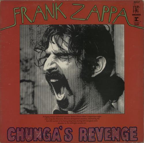 Frank Zappa Chunga's Revenge - Red Sleeve vinyl LP album (LP record) UK ZAPLPCH106387
