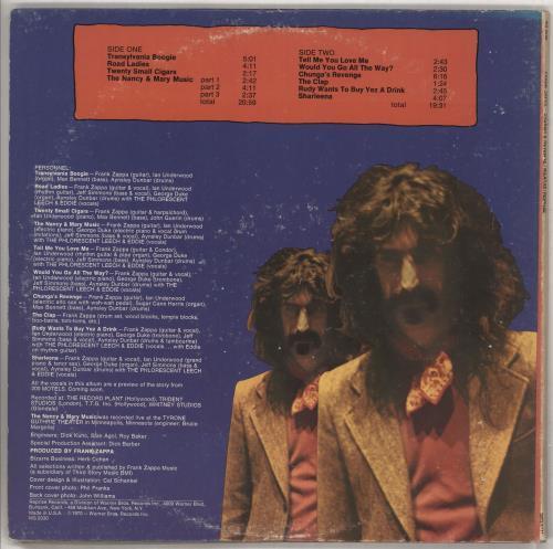 Frank Zappa Chunga's Revenge - Tan label vinyl LP album (LP record) US ZAPLPCH640042