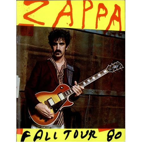 Frank Zappa Crush All Boxes - Fall Tour 80 tour programme US ZAPTRCR418888