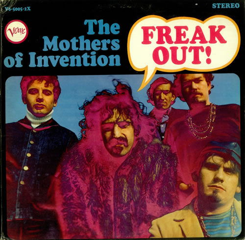 Frank Zappa Freak Out Us 2 Lp Vinyl Record Set Double