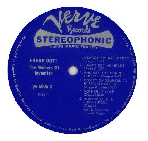 Frank Zappa Freak Out Original Canadian 2 Lp Vinyl