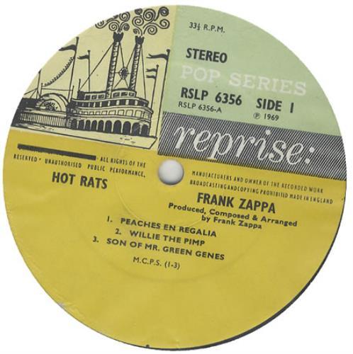 Frank Zappa Hot Rats 1st Uk Vinyl Lp Album Lp Record