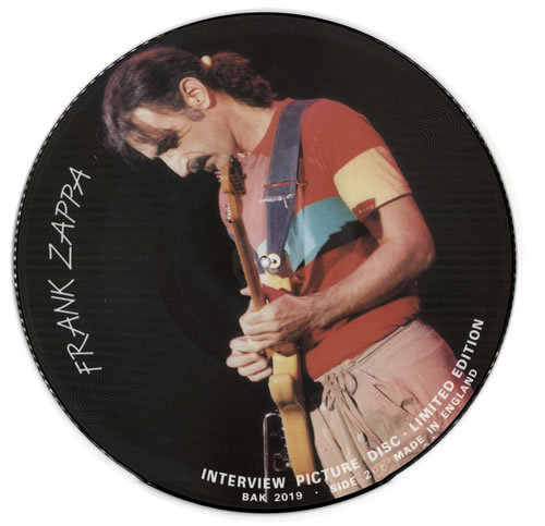 Frank Zappa Interview Picture Disc Uk 12 Quot Vinyl Picture