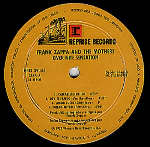 Frank Zappa Over Nite Sensation Spanish Vinyl Lp Album Lp
