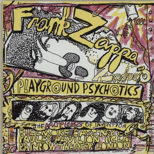 Frank Zappa Playground Psychotics 2 CD album set (Double CD) Japanese ZAP2CPL662296