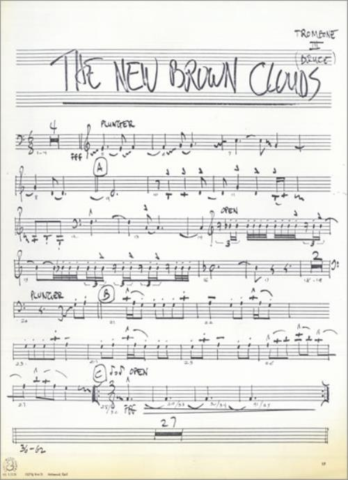 Frank Zappa The New Brown Clouds Ozalid Copies Us Sheet