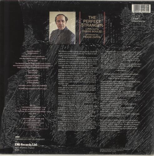 Frank Zappa The Perfect Stranger Uk Vinyl Lp Album Lp