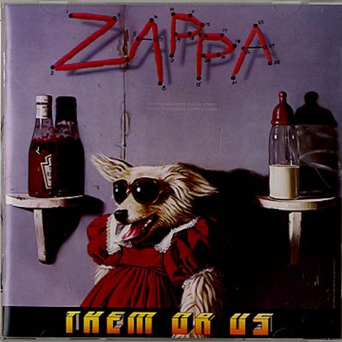 Frank Zappa Them Or Us CD album (CDLP) UK ZAPCDTH616169