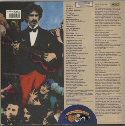 Frank Zappa Tinseltown Rebellion French 2 Lp Vinyl Record