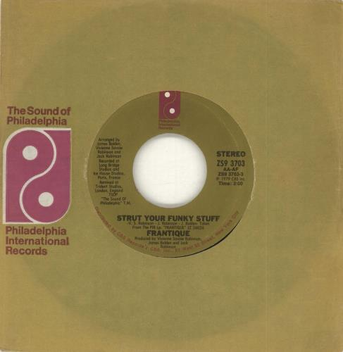 "Frantique Strut Your Funky Stuff 7"" vinyl single (7 inch record) US FTQ07ST715142"