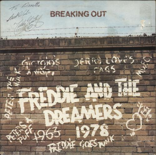 Freddie & The Dreamers Breaking Out - Autographed vinyl LP album (LP record) UK F&DLPBR727640
